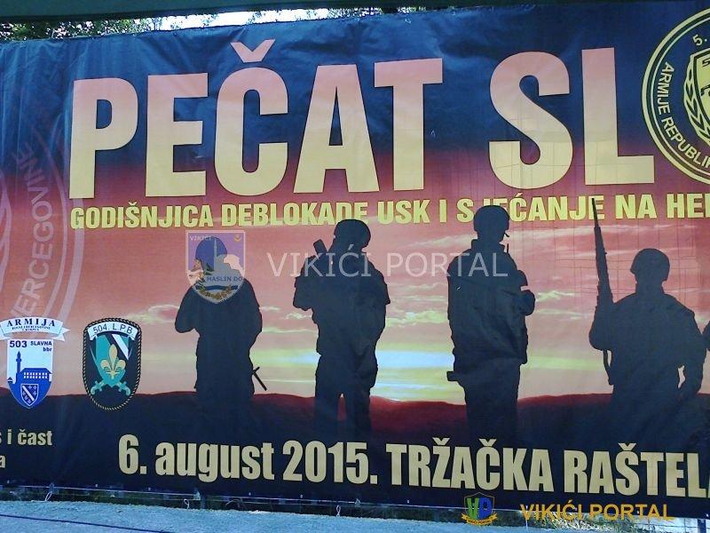 """Dekoracija bine povodom manifetacije """"Pečat slobodi"""" T.Raštela 2015.god."""