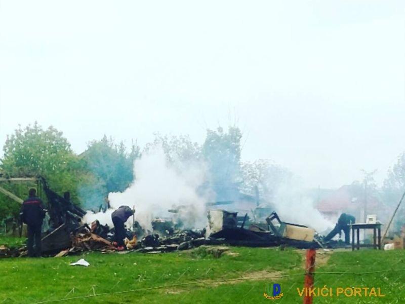 ugašeno zgarišta porodične kuće Halilagić iz Izačića