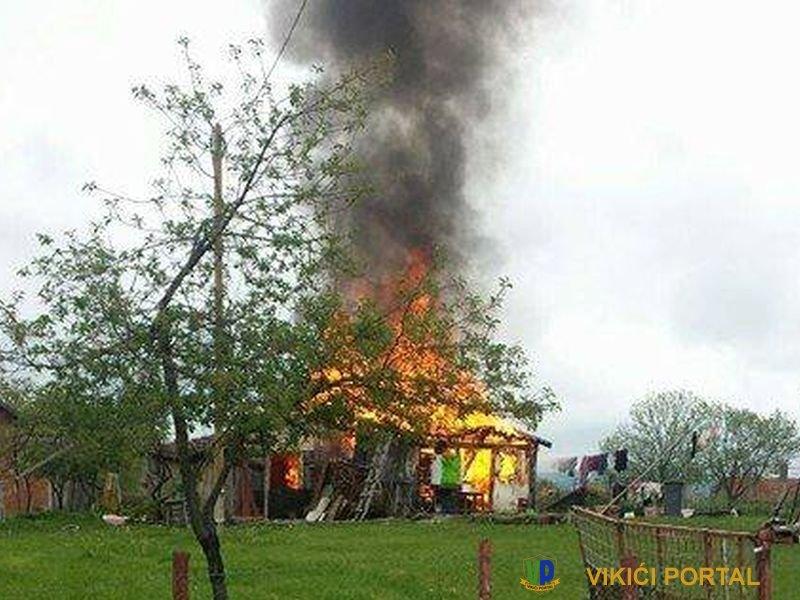 vatra unišatava kuću Halilagić na Izačiću