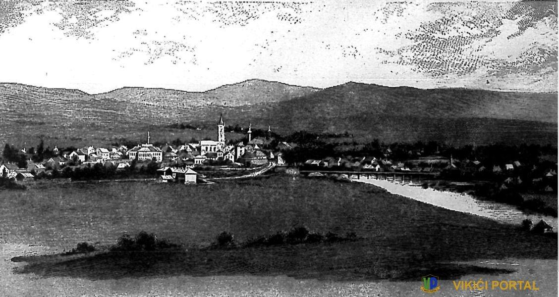 """slika grada Bihaća objavljena u listu """"Hrvat"""" iz 1905. god."""