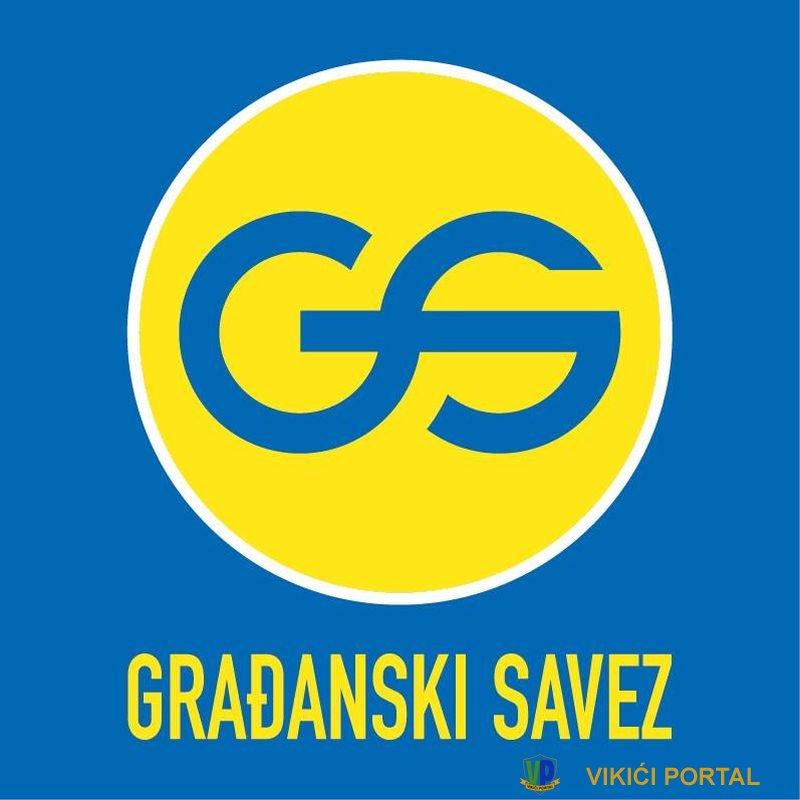 """logo političke stranke """"Građanski savez BiH"""""""