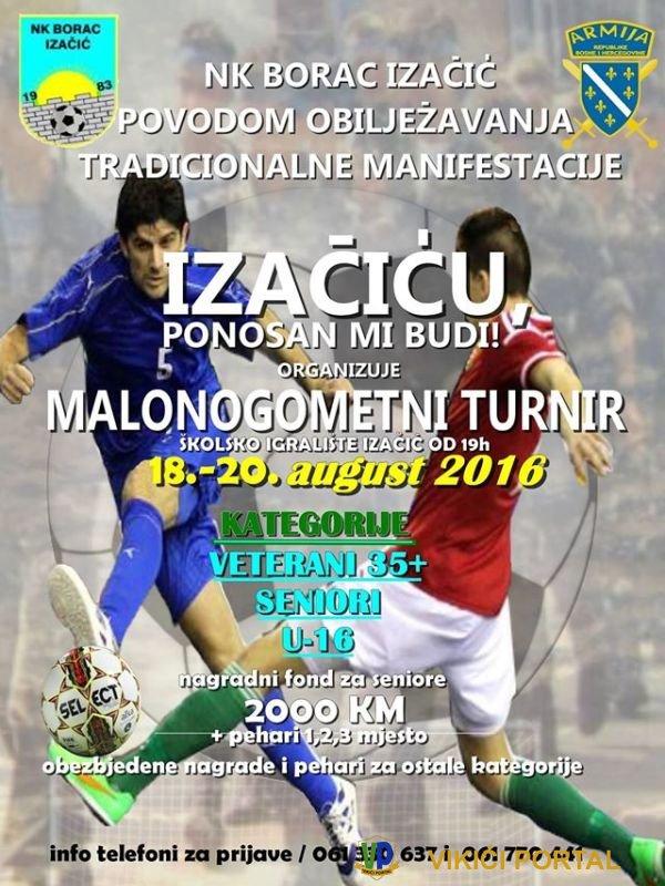 plakat 24. malonogometnog turnira Izačić 2016