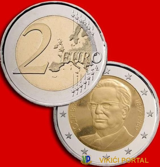 Tito na kovanici od 2 €