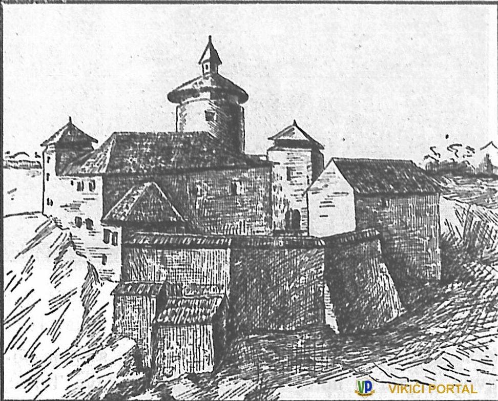crtež grada Drežnika o.g. 1830.