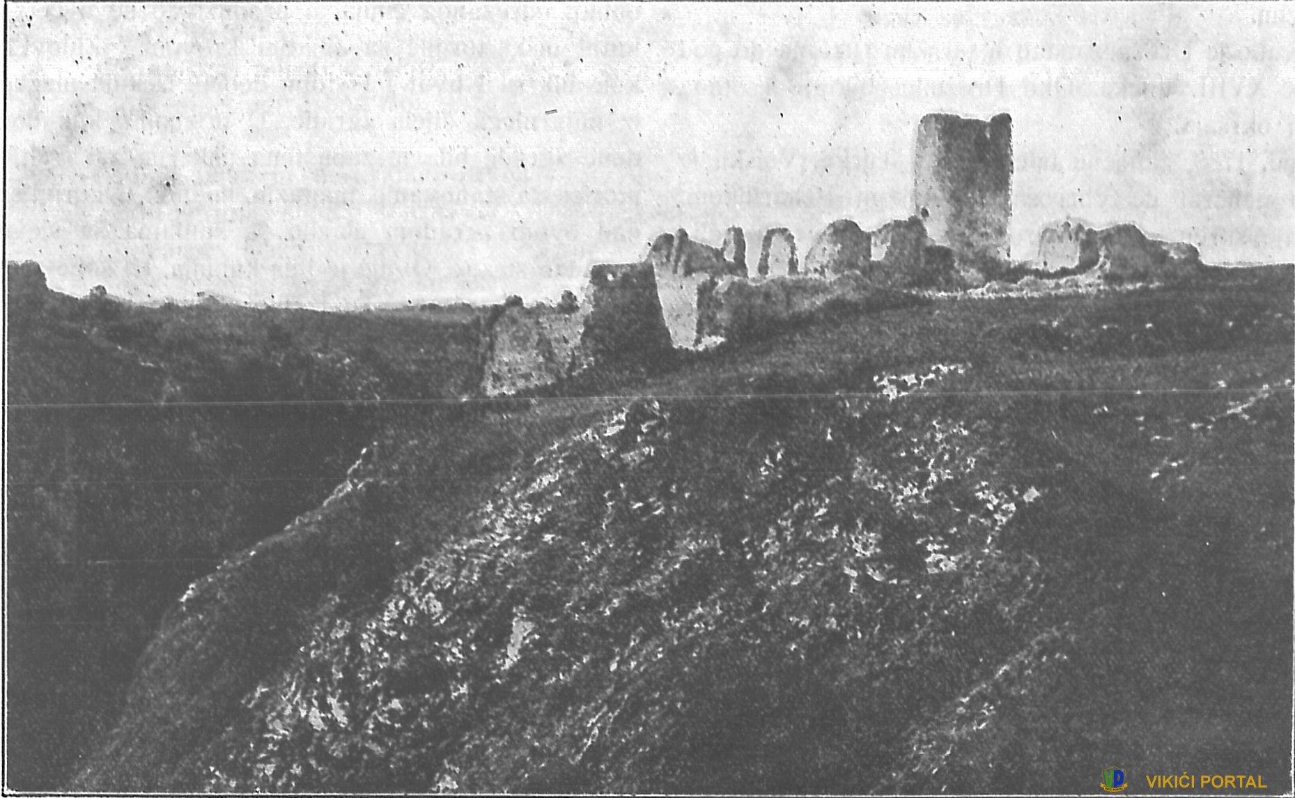 grad Drežnik na fotografiji iz 1897. god.