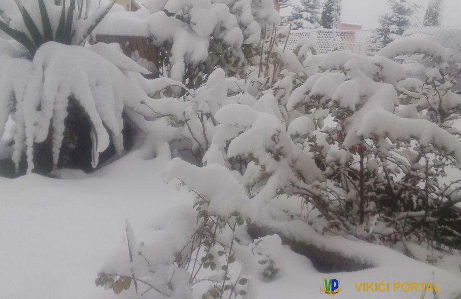 Prvi snijeg u 2018 godini u Vikići