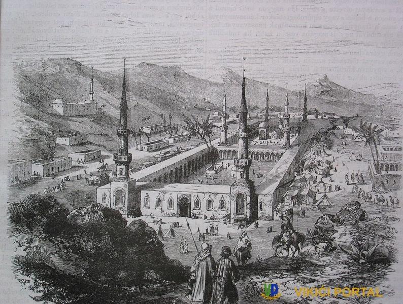 Poslanikova džamija iz 19. stolježa za vrijeme osmanske ere