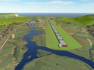 ovako bi trebala izgledati uzletno-sletna pista aerodroma Bihać u Golubiću
