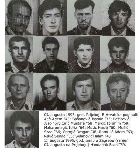 13 pripadnika Armije RBiH poginulih na Prijeboju R Hrvatska 5. augusta 1995.god.