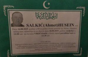 smrtovnica Husein Salkić iz Vikića