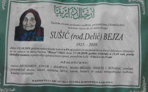 smrtovnica Sušić Bejza dj. Delić iz Vikića