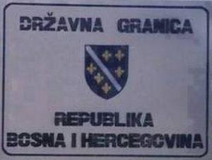 tabla državna granica Republika Bosna i Hercegovina
