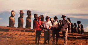 Članovi ekspedicije na Uskršnjem otoku