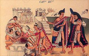 Vađenje srca žrtve (Aztečki kodeks)