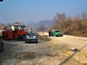 Cesta u fazi gradnje u Arnautovićima kod Visokog