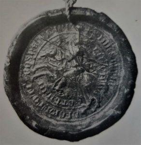 Ban Stjepan II, prikazan u jednoj od bitaka (njegov pečat)