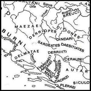 Karta rasprostranjenja nekih od ilirskih plemena