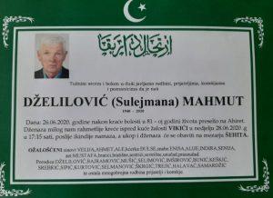 smtovnica Dželilović Mahmut iz Vikića