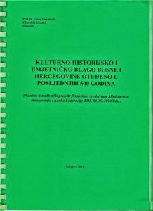 Završni projekt o istraživanju nestalog kulturno-historijskomi umjetničkom blag u BiH