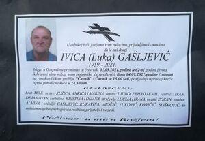 smrtovnica Gašljević Ivica iz Vikića
